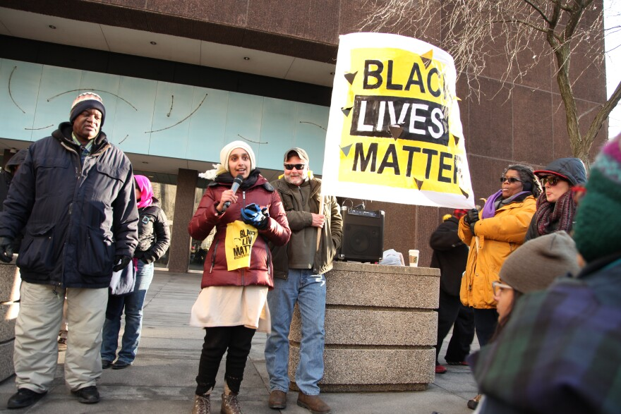 Greene County Black Lives Matters and members from the Ohio Student Association were at the Federal Courthouse Thursday.