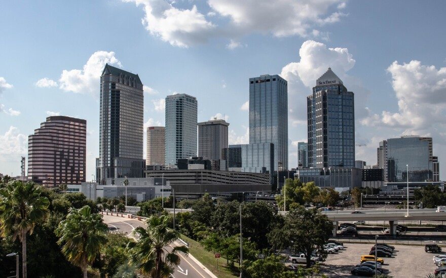 Downtown Tampa's skyline pictured in the daytime.