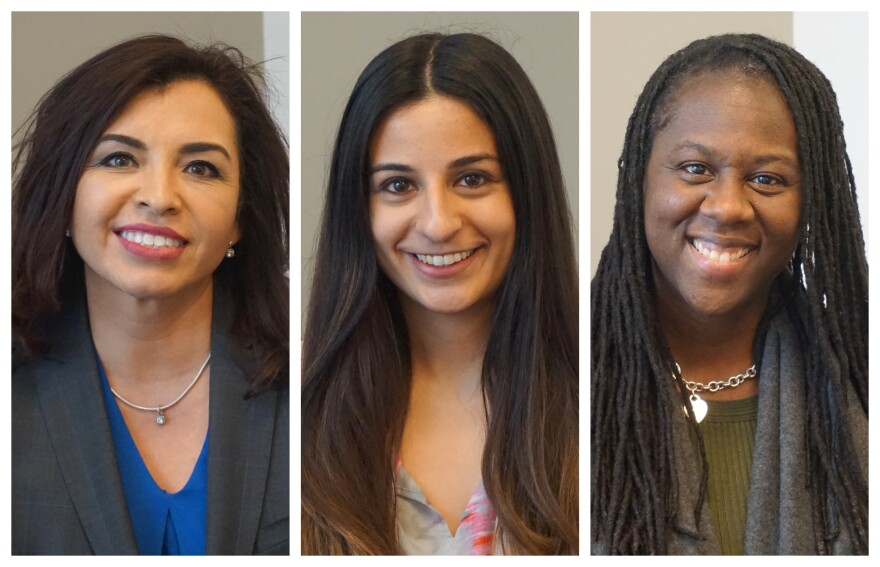(L-R) Gabriela Ramírez-Arellano, Amina Musa and Kristy Jackson discussed the advancement of women in the workplace.