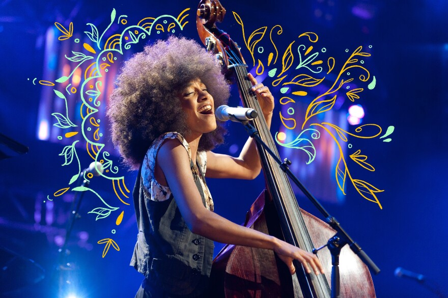 Esperanza Spalding performs at the 2011 Montreux Jazz festival in Switzerland.