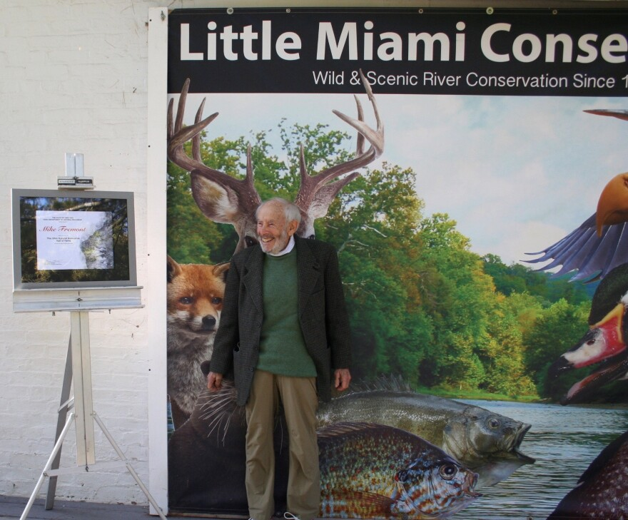 River Conservationist Mike Fremont at his Ohio Natural Resources Hall of Fame induction ceremony last year