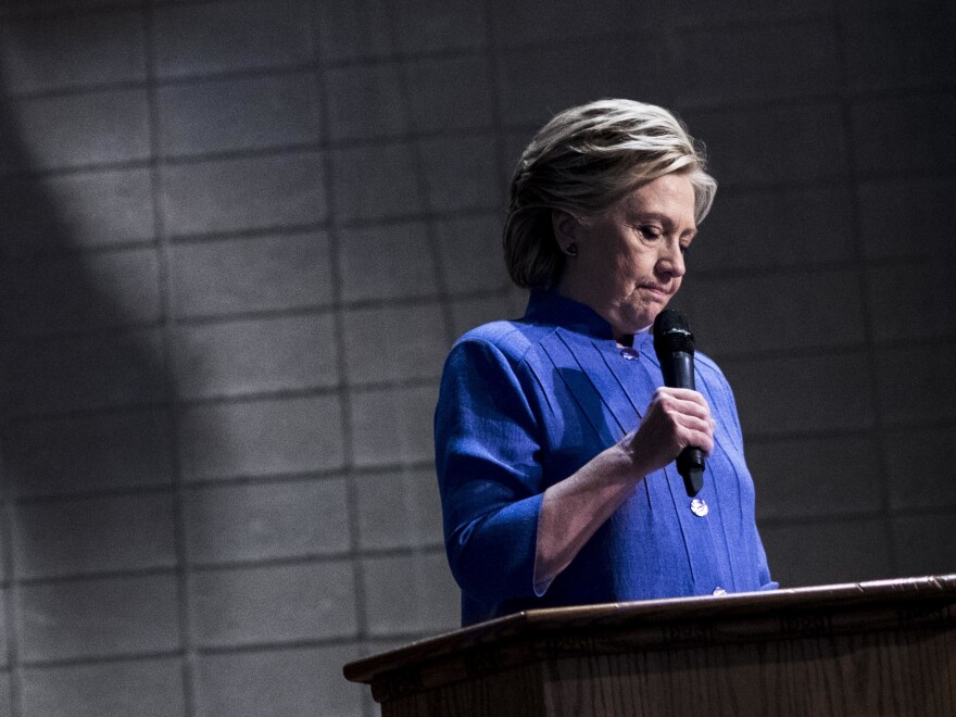 Democratic presidential nominee Hillary Clinton speaks to Florida voters Oct. 30 at a Baptist Church in Miami, Fla.