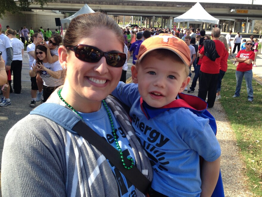 Will Martin, with his mother, Lori. Will was 2 when Lori learned he was born with Leigh's syndrome, a progressive genetic condition. So far it's given him low muscle tone and some difficulty with speech.