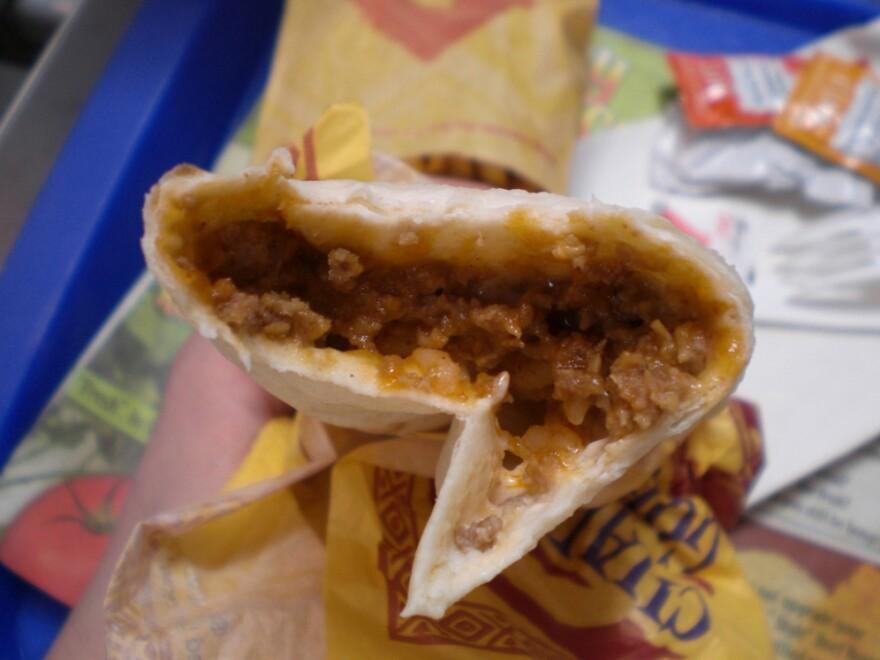 A Taco Bell Cheesy Beefy Melt.