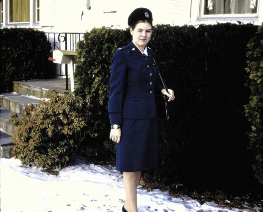 A young Lt. Sharron Frontiero (now Sharron Cohen) in her Air Force uniform in 1972.