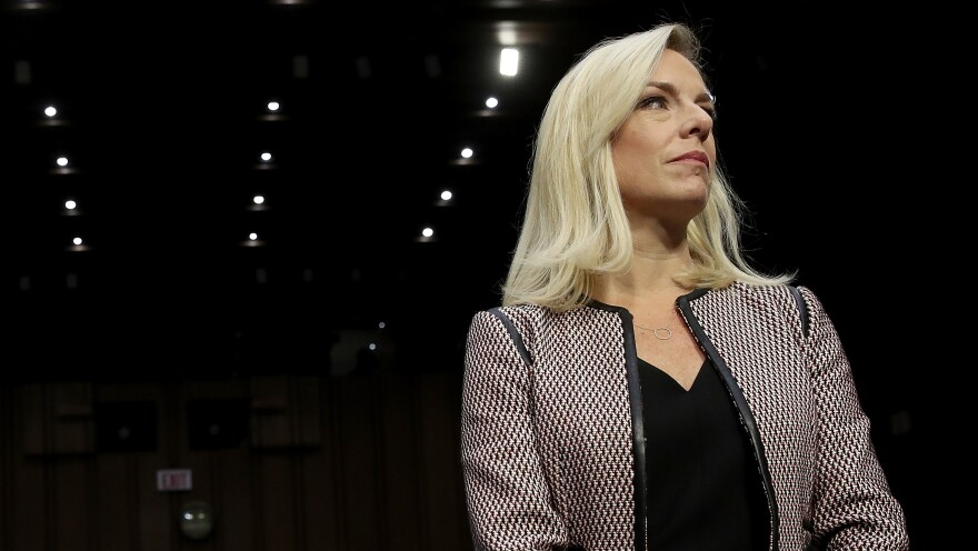 Homeland Security Secretary Kirstjen Nielsen at a Senate Judiciary Committee hearing in January.