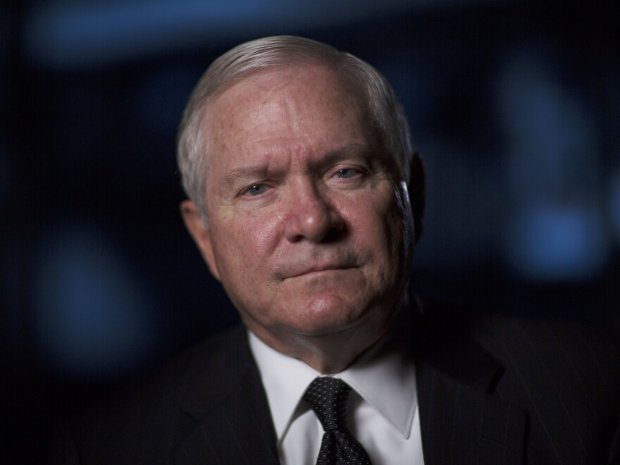 "Robert Gates is interviewed for ""The Spymasters"" on Dec. 15, 2014."