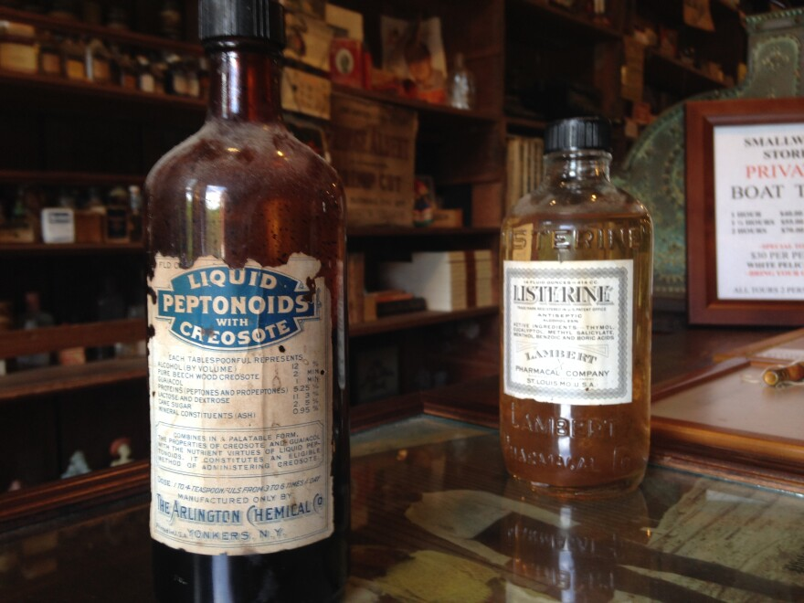 The museum gives visitors a good idea of what an early 20th century medicine cabinet looks like.
