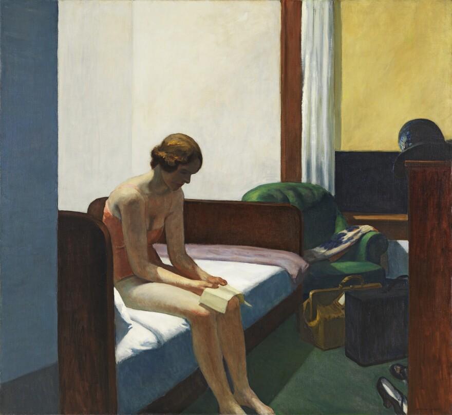 <em>Hotel Room,</em> 1931, oil on canvas