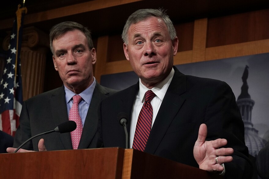 The report from the Senate intelligence committee — run by Chairman Sen. Richard Burr (right), R-N.C., and Vice Chairman Sen. Mark Warner, D-Va. — includes recommendations for future election security.