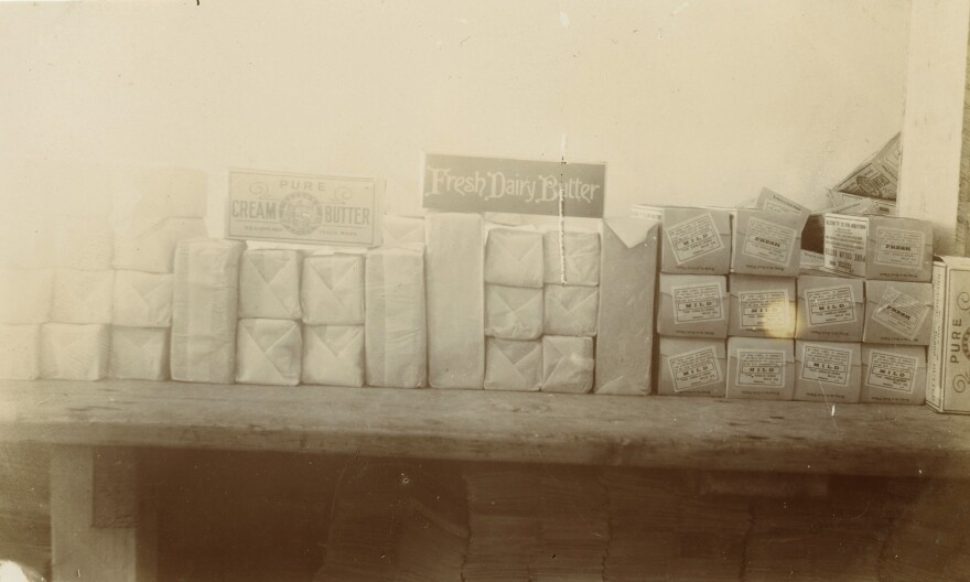 Butter samples from the first quarter of the 20th Century in Ireland.