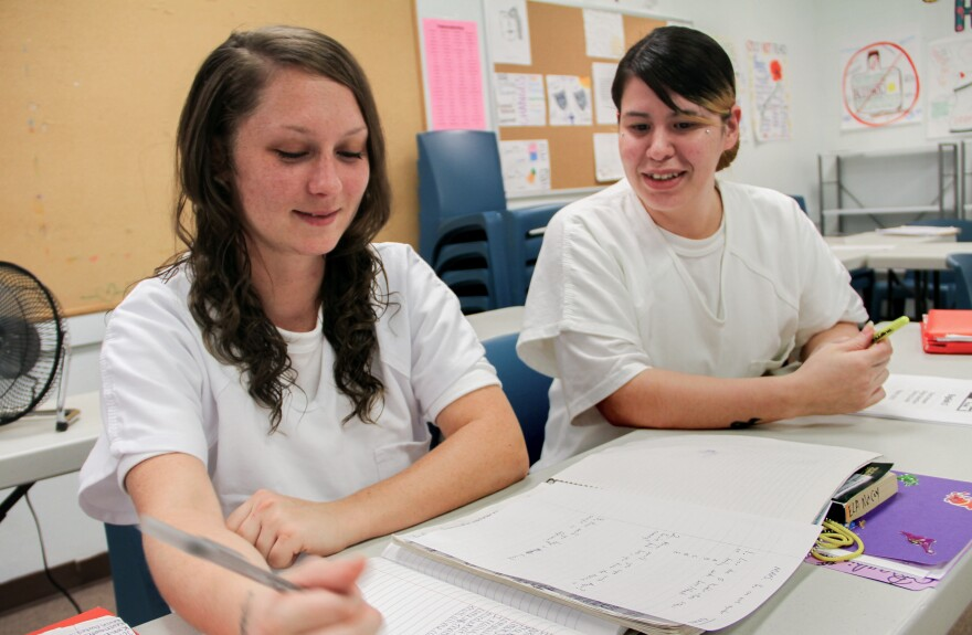 Alexandria Carroll and Stephanie Garcia are inmates working to finish the credits they need to earn high school diplomas.