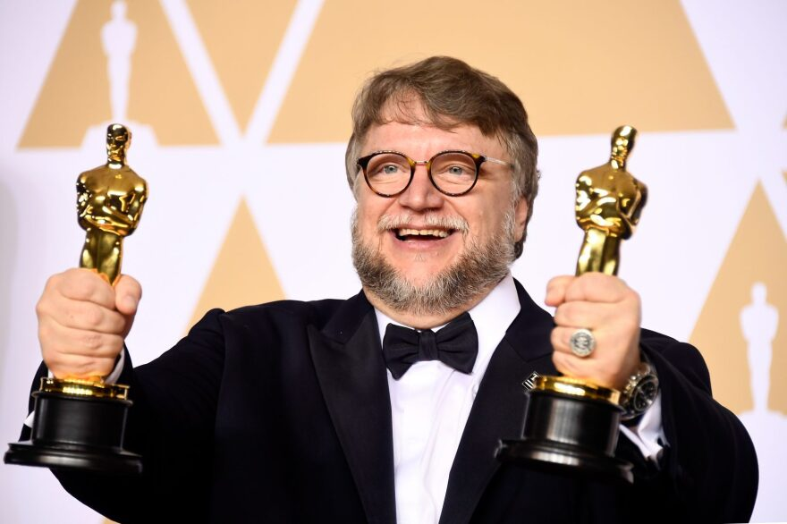 """Filmmaker Guillermo del Toro, winner of the Best Director and Best Picture awards for """"The Shape of Water,"""" poses in the press room during the 90th Annual Academy Awards on March 4, 2018 in Hollywood, Calif. (Frazer Harrison/Getty Images)"""