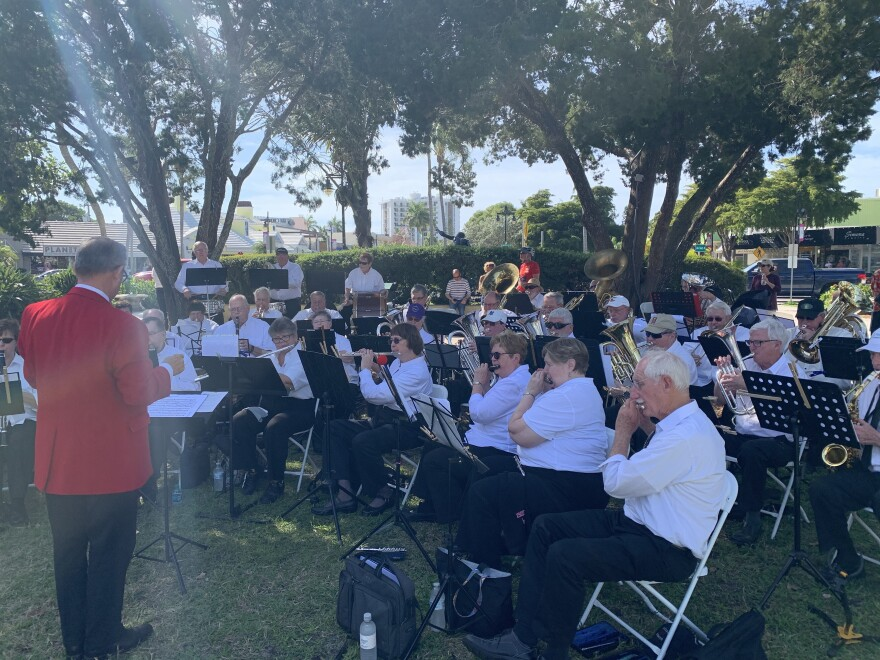 Band members play in Sarasota