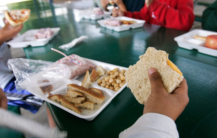 """New Mexico state Sen. Michael Padilla says he has heard of """"lunch shaming"""" practices around the country, including students being given different food if they can't afford the regular hot lunch."""