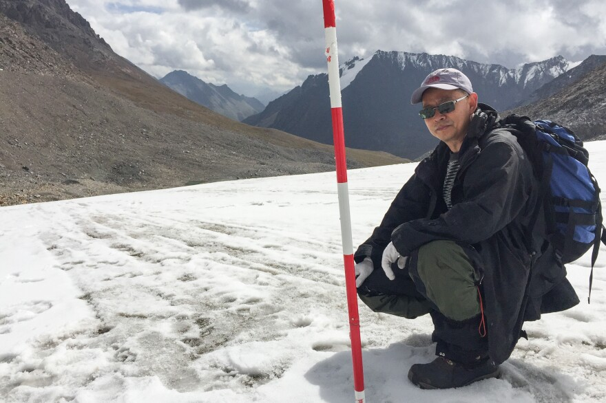 Scientist Li Zhongqin has studied the glaciers of Xinjiang for most of his life. He says at the current rate of global warming, the glacier he studies most will be gone within 50 years.