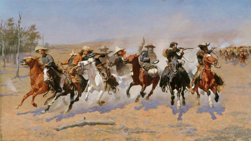 frederic_remington__dash_for_timber__1889_0.jpg