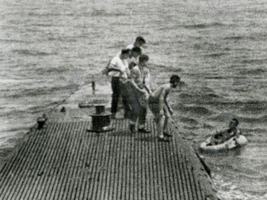 After his plane was shot down over the Pacific island of Chichi Jima on Sept. 2, 1944, Bush was rescued by the Navy submarine USS Finback.
