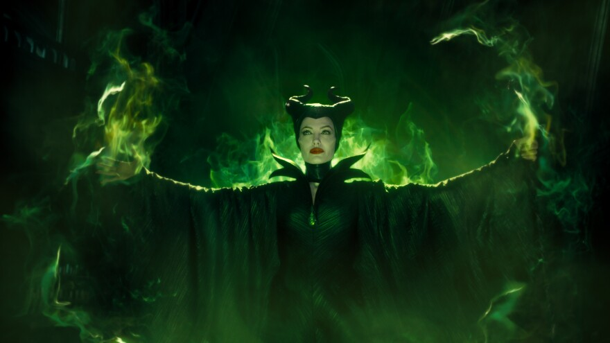 "Angelina Jolie plays the spiteful protagonist in an upcoming movie called ""Maleficent,"" based on ""Sleeping Beauty."""
