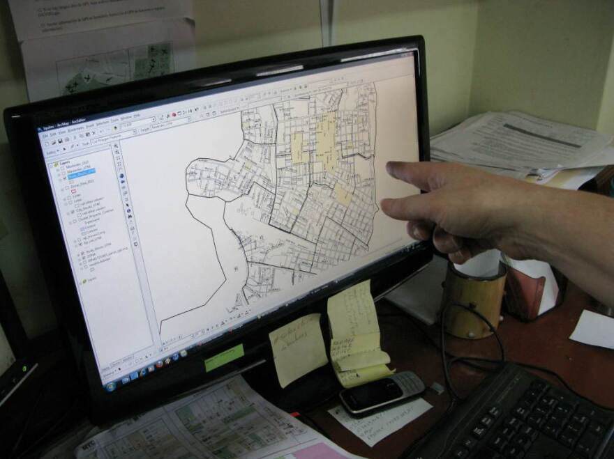 Information about mosquito counts and all health and medical issues are tracked at the household level using computer software. It's helping researchers see how the dengue virus is migrating through the city.