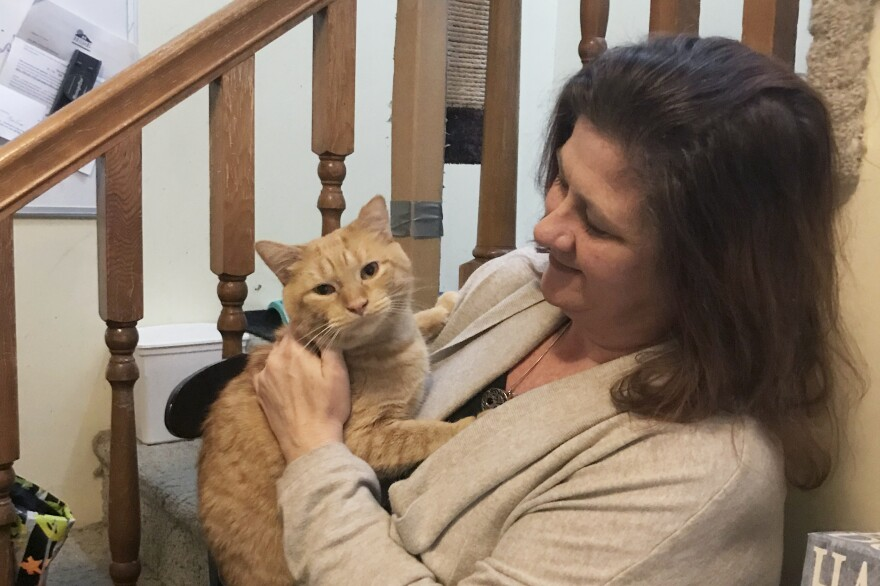 Katy Sexton's cats are among some of the lighter burdens her parents, Dale and Melissa (shown), must now carry since her death last Halloween.