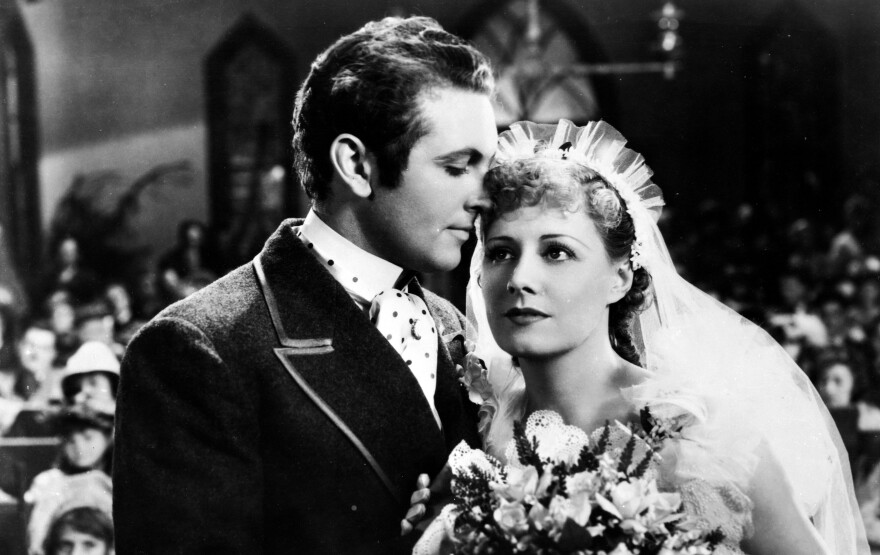 Allan Jones plays debonair leading man Gaylord Ravenal and Irene Dunne is the enchanting Magnolia in the 1936 film version of <em>Show Boat, </em>which has just been released on DVD.