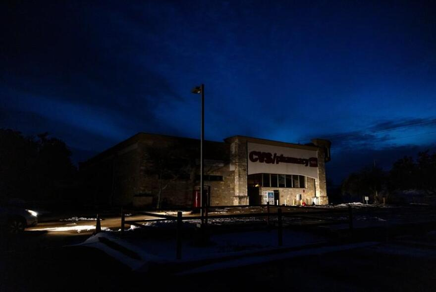 A CVS Pharmacy in South Austin is lit only by the lights of a parked car. Fifteen directors serve on the ERCOT board, including the four unaffiliated directors, whose resignations will be effective at the end of the meeting Wednesday.