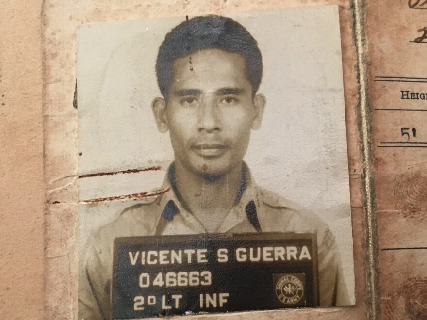 Vicente Guerra is pictured during his time as a second lieutenant in the guerilla force fighting the Japanese in World War II.