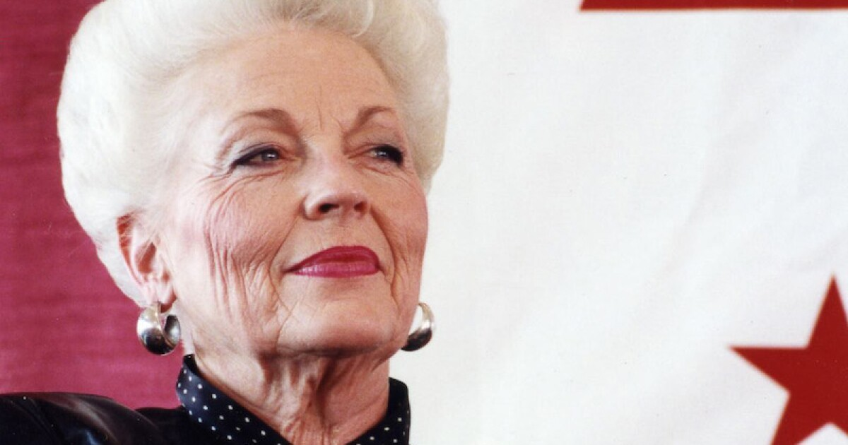 Banners throughout Texas mark 30th anniversary of Gov. Ann Richards' Inauguration