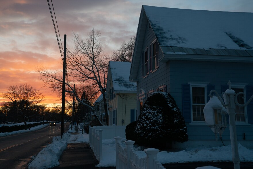 The sun sets in Concord, N.H. The state's 2020 Democratic primary will take place on Feb. 11.