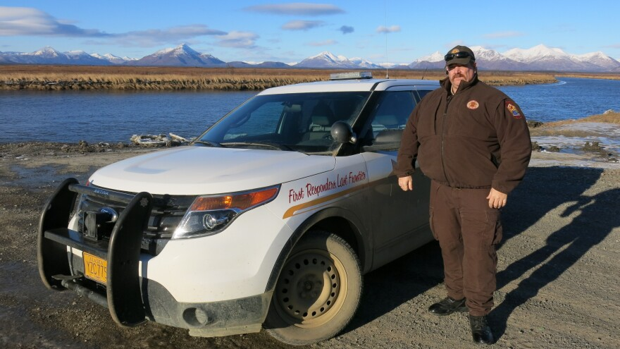 Mike Myers is the roving village public safety officer serving southwest Alaska villages including Manokotak. Like many officers in rural Alaska, Myers doesn't carry a gun and often doesn't need one.