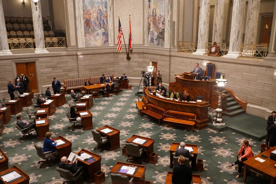 Missouri Senate on the second day of the 2020 legislative session Jan. 9, 2020