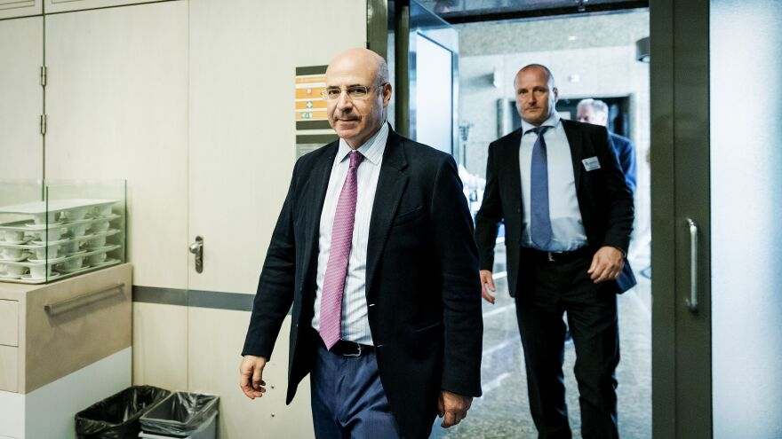 Bill Browder, a former Moscow financier turned anti-Kremlin activist, prepares to speak with European officials about the Magnitsky Act last week in The Hague.