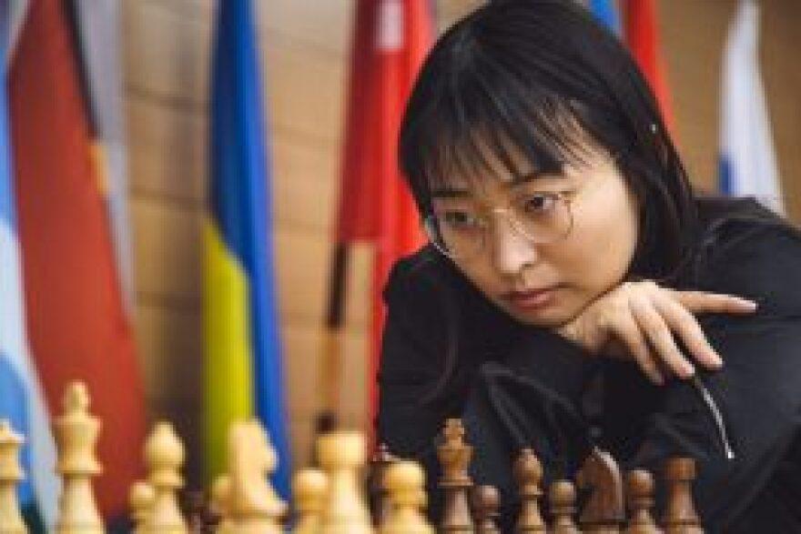 Grandmaster Ju Wenjun at the Women's World Chess Championship in November 2018 in Khanty-Mansiysk, Russia