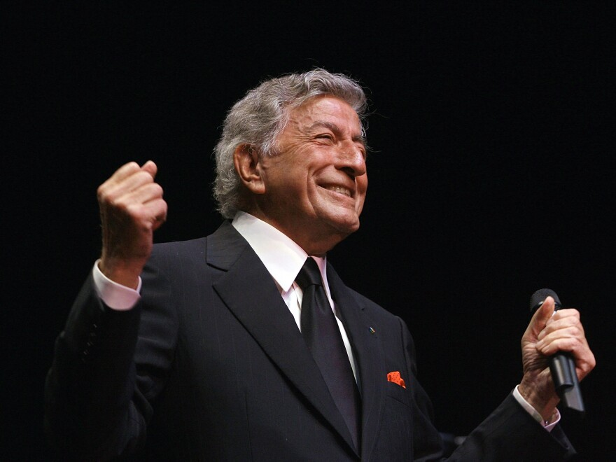Singer Tony Bennett performing at the Royal Albert Hall in London in 2007.