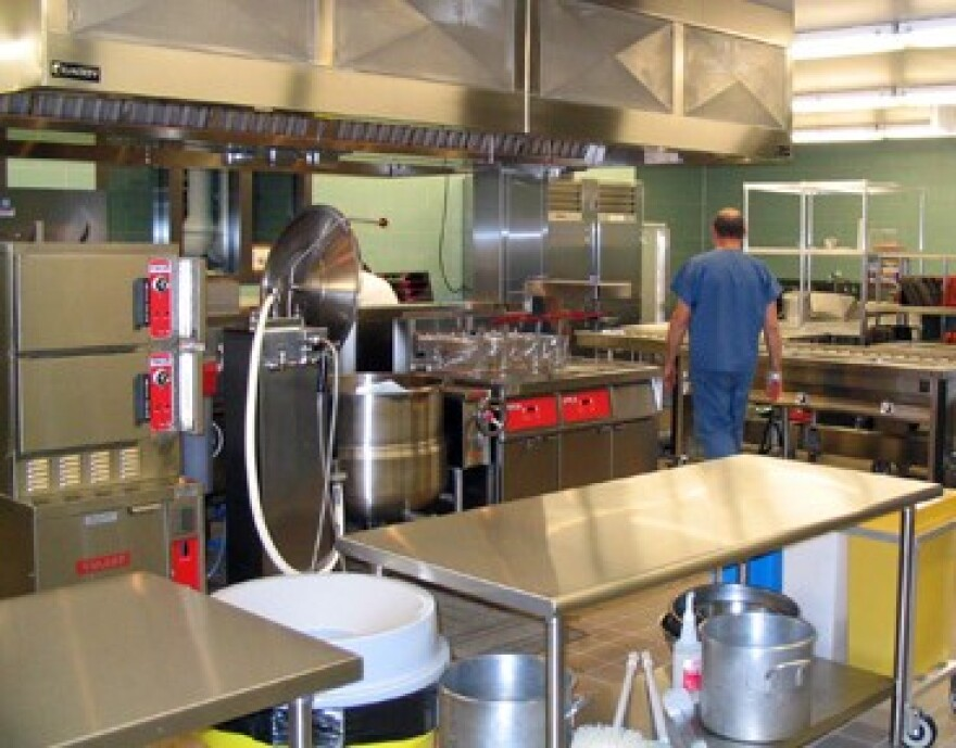 photo of Geauga County jail kitchen