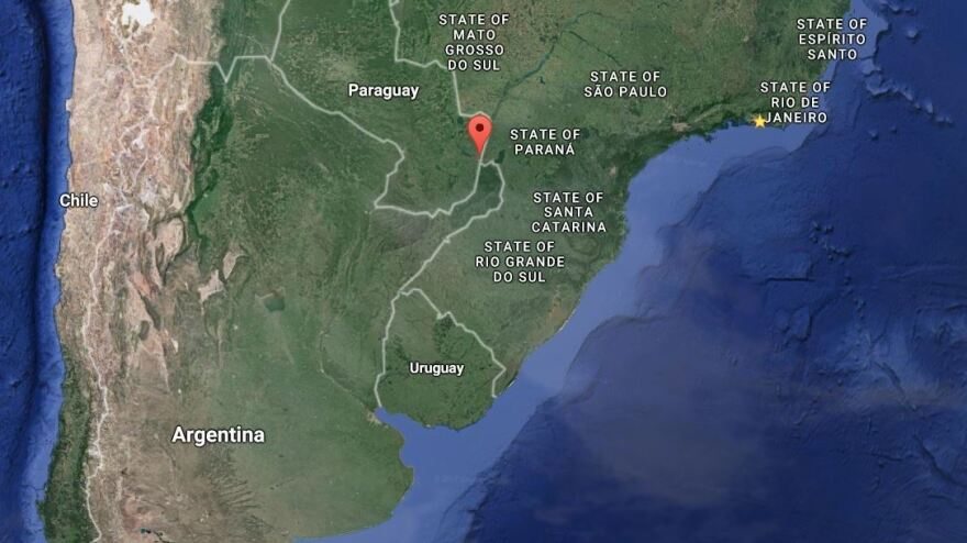 The city of Ciudad del Este, in eastern Paraguay, was hit by a raid Monday. Officials believe the bandits then scattered across the border with Brazil.