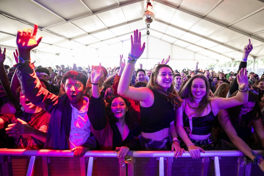 A packed crowd listens to Abhi The Nomad at 2019's ACL Fest.