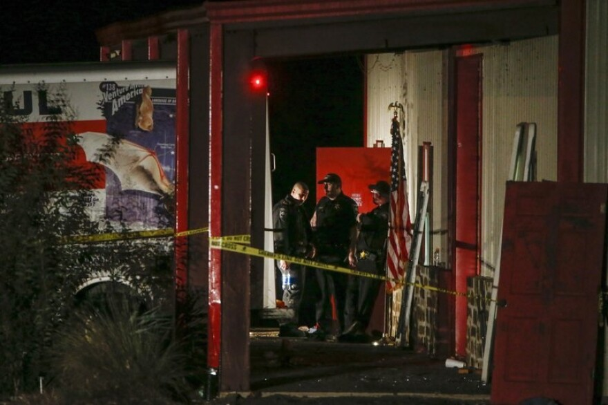 crime scene after a shooting at Party Venue in Greenville