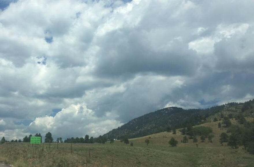 'Hay for sale' sign at Colorado Horse Hay