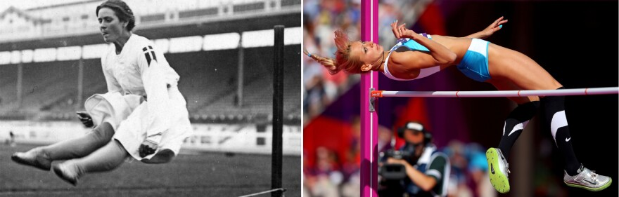 The bodies and strategies of Olympic athletes have changed over time, as these photos of high jumpers from the 1908 and 2012 Games show.
