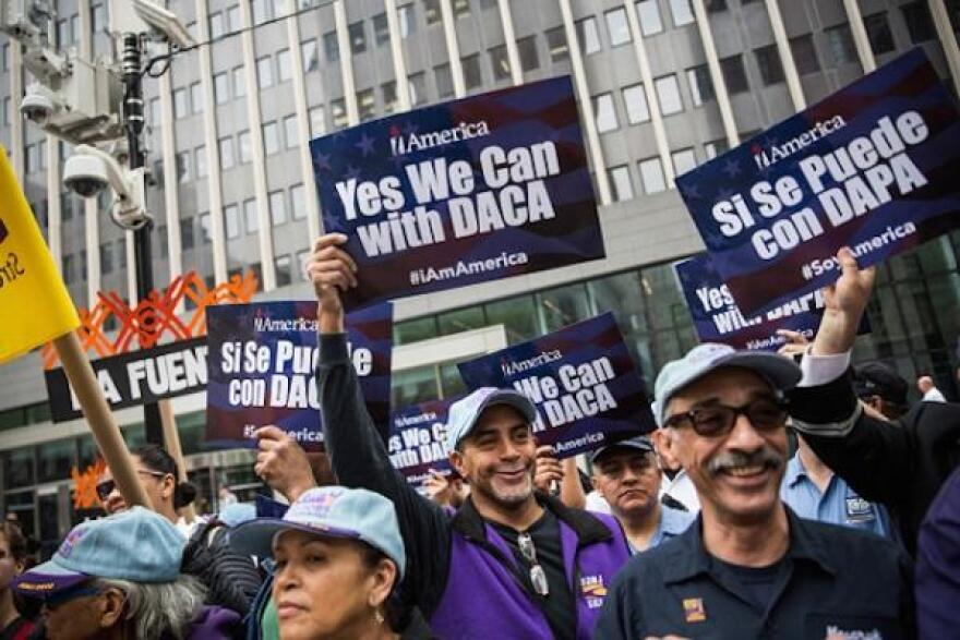 Activists for the Deferred Action for Childhood Arrivals (DACA) program.