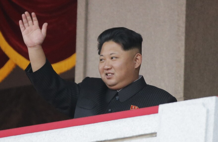 North Korean leader Kim Jong Un waves during a parade in Pyongyang in October. The country has carried out a series of provocative actions recently, though Kim's motives are not clear.