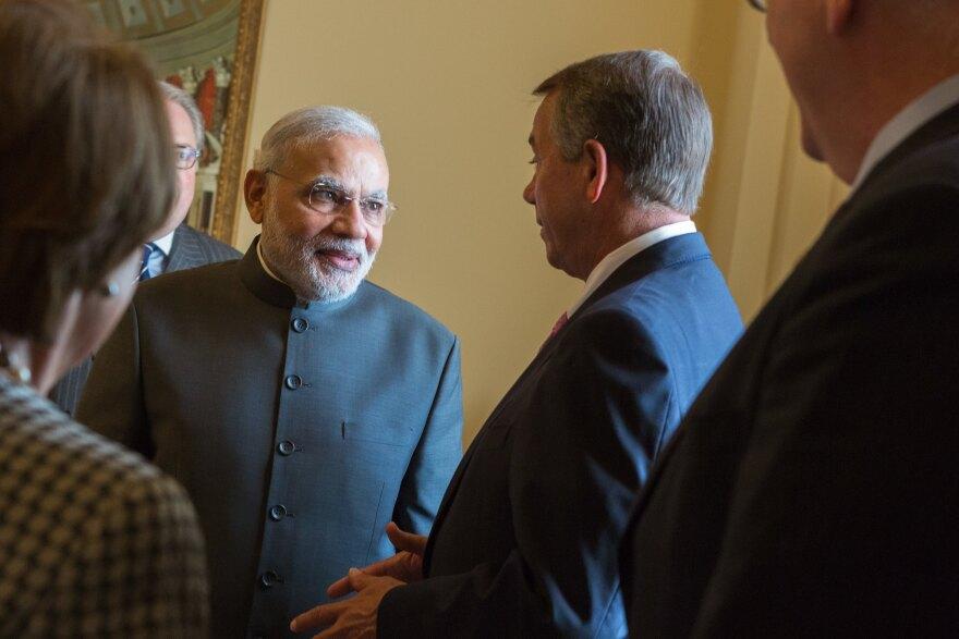 Former House Speaker John Boehner welcomed Indian Prime Minister Narendra Modi at the U.S. Capitol in 2014.