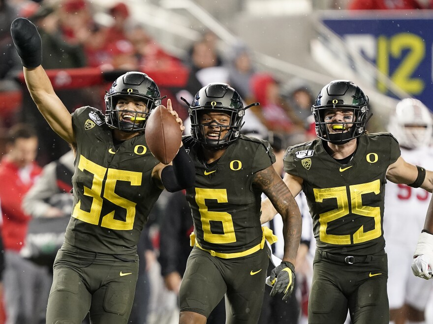 University of Oregon are the current Pac-12 Champions, beating Stanford University in Dec. 2019.