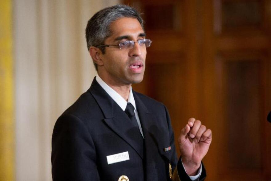 n this Aug. 3, 2015, file photo, U.S. Surgeon General Vivek Murthy speaks in the East Room at the White House in Washington. Murthy said Saturday, Aug. 15, that the backlash from his gun-control statement was disappointing but not a surprise.
