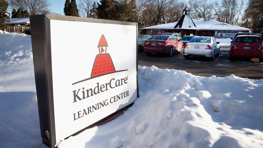 The KinderCare Learning Center in Palatine, Ill., where five infants have been diagnosed with measles. Officials are trying to track down the source of the infection.