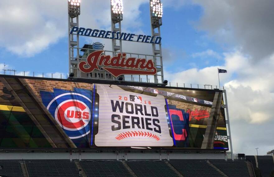 2016 Indians World Series sign
