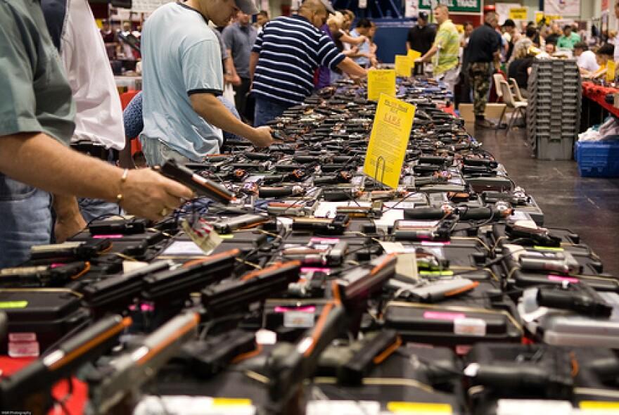 A gun show in Houston, Texas, in 2007.
