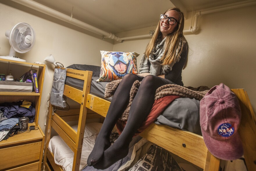 "Rebecca Goodman, a freshman, tells people she lives ""near Holland"" because hardly anyone at the University of Michigan has ever heard of her tiny hometown. An astrophysics major, she said she ""felt lost a lot of time the first few weeks on campus."""